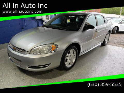 2013 Chevrolet Impala for sale at All In Auto Inc in Addison IL