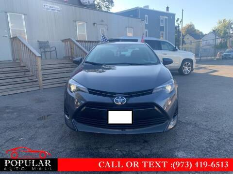 2018 Toyota Corolla for sale at Popular Auto Mall Inc in Newark NJ