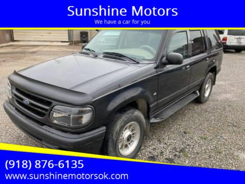 1998 Ford Explorer for sale at Sunshine Motors in Bartlesville OK