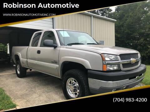 2004 Chevrolet Silverado 2500HD for sale at Robinson Automotive in Albemarle NC