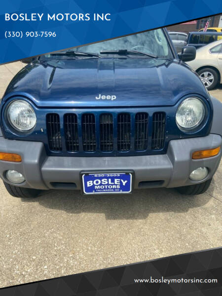 2004 Jeep Liberty for sale at BOSLEY MOTORS INC in Tallmadge OH