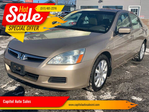 2007 Honda Accord for sale at Capitol Auto Sales in Lansing MI