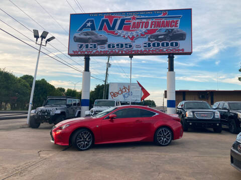 2016 Lexus RC 200t for sale at ANF AUTO FINANCE in Houston TX