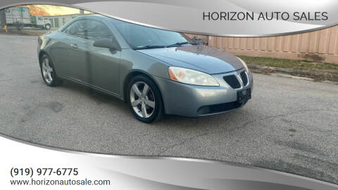 2007 Pontiac G6 for sale at Horizon Auto Sales in Raleigh NC
