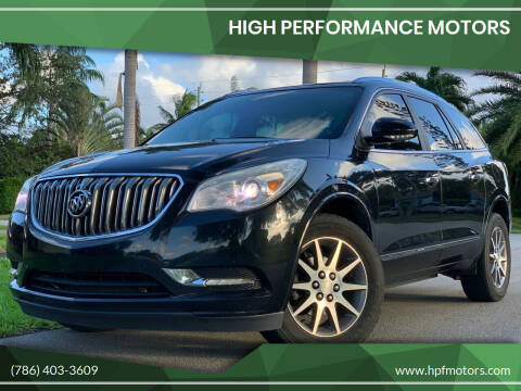 2014 Buick Enclave for sale at HIGH PERFORMANCE MOTORS in Hollywood FL