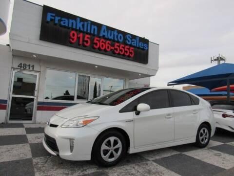 2014 Toyota Prius for sale at Franklin Auto Sales in El Paso TX