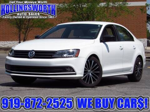 2016 Volkswagen Jetta for sale at Hollingsworth Auto Sales in Raleigh NC