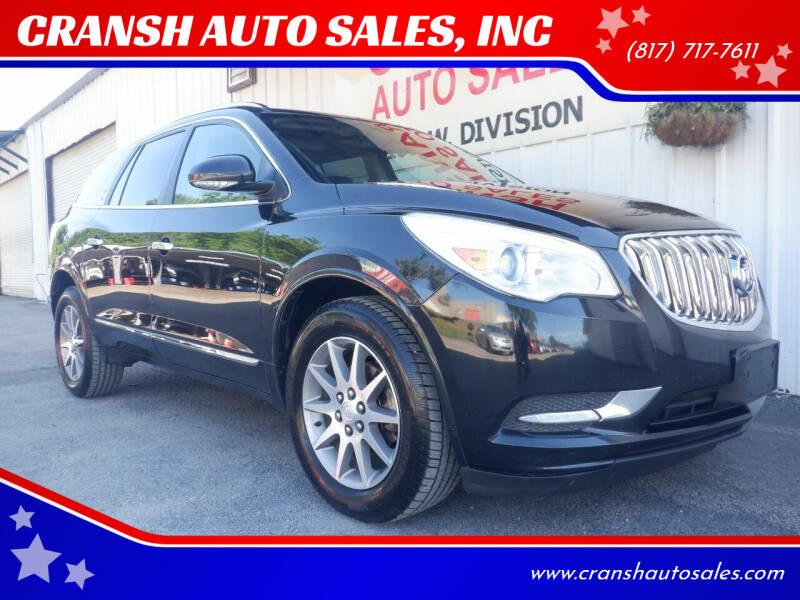 2013 Buick Enclave for sale at CRANSH AUTO SALES, INC in Arlington TX