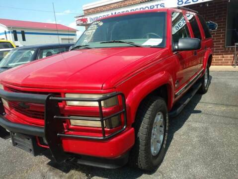 2000 Chevrolet Tahoe Limited/Z71 for sale at IMPORT MOTORSPORTS in Hickory NC