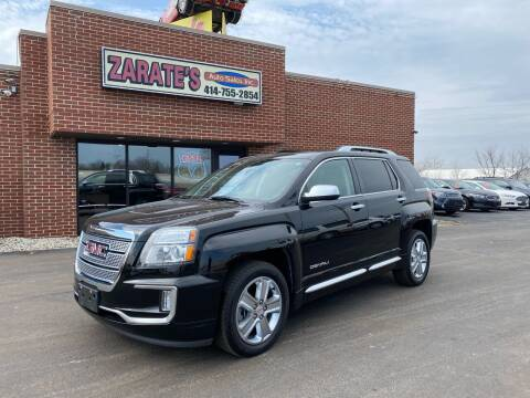 2016 GMC Terrain for sale at Zarate's Auto Sales in Caledonia WI