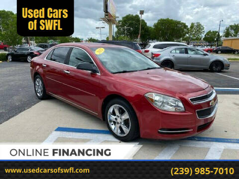 2012 Chevrolet Malibu for sale at Used Cars of SWFL in Fort Myers FL
