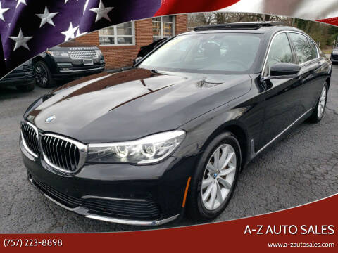 2019 BMW 7 Series for sale at A-Z Auto Sales in Newport News VA