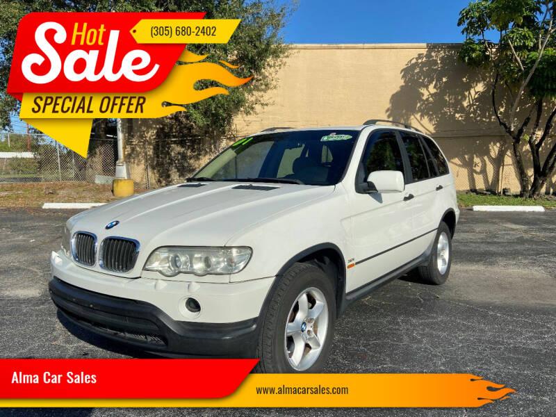 2001 BMW X5 for sale at Alma Car Sales in Miami FL