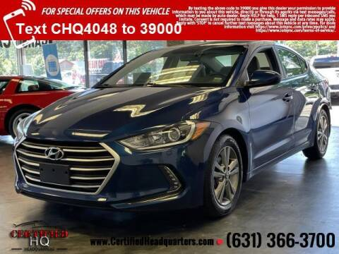 2017 Hyundai Elantra for sale at CERTIFIED HEADQUARTERS in Saint James NY