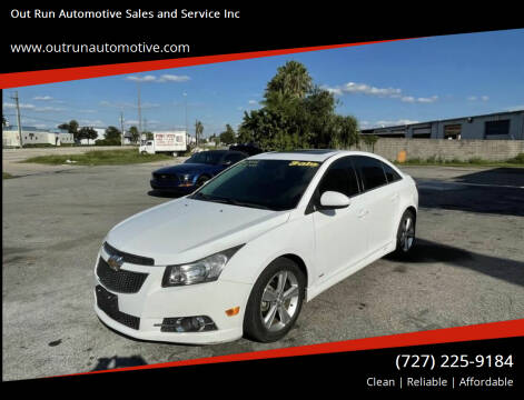 2014 Chevrolet Cruze for sale at Out Run Automotive Sales and Service Inc in Tampa FL