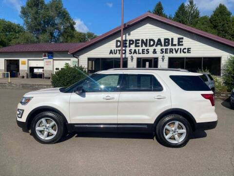 2017 Ford Explorer for sale at Dependable Auto Sales and Service in Binghamton NY