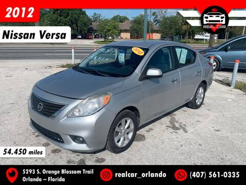 2012 Nissan Versa for sale at Real Car Sales in Orlando FL