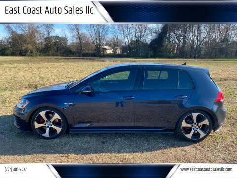 2016 Volkswagen Golf GTI for sale at East Coast Auto Sales llc in Virginia Beach VA