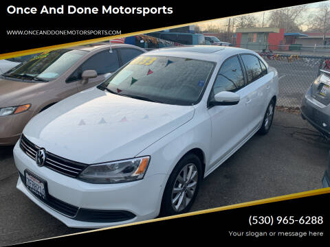 2014 Volkswagen Jetta for sale at Once and Done Motorsports in Chico CA