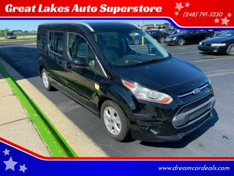 2016 Ford Transit Connect Wagon for sale at Great Lakes Auto Superstore in Waterford Township MI
