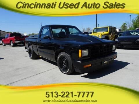 1988 Chevrolet S-10 for sale at Cincinnati Used Auto Sales in Cincinnati OH