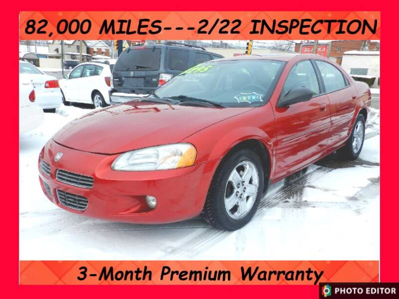 2002 Dodge Stratus for sale at 2010 Auto Sales in Glassport PA