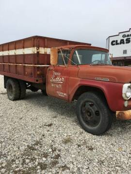 1957 Ford F600 2ton Grain Truck for sale at Gary Miller's Classic Auto in El Paso IL