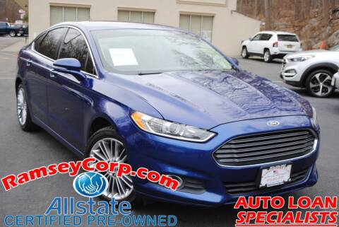 2013 Ford Fusion for sale at Ramsey Corp. in West Milford NJ