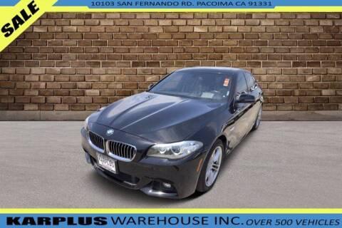 2016 BMW 5 Series for sale at Karplus Warehouse in Pacoima CA