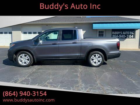 2017 Honda Ridgeline for sale at Buddy's Auto Inc in Pendleton, SC