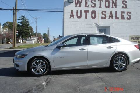 2017 Chevrolet Malibu for sale at Weston's Auto Sales, Inc in Crewe VA