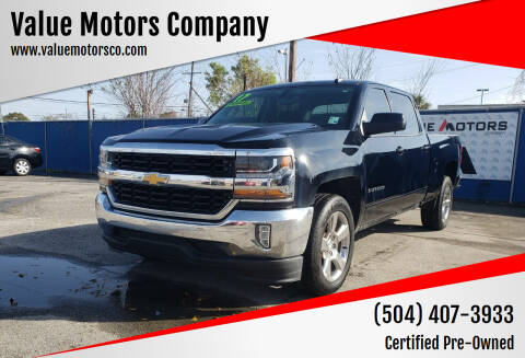 2017 Chevrolet Silverado 1500 for sale at Value Motors Company in Marrero LA