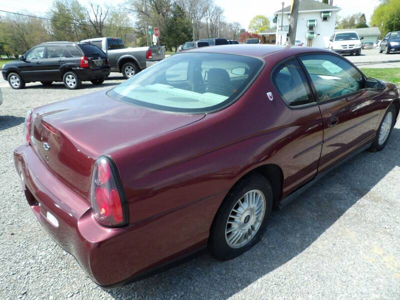 2001 Chevrolet Monte Carlo for sale at English Autos in Grove City PA