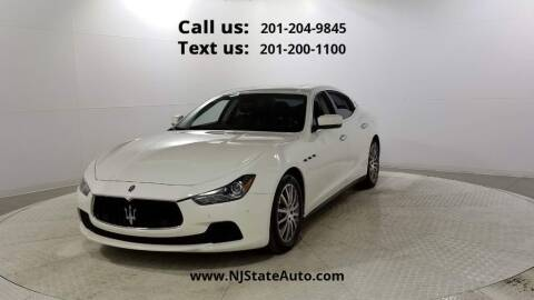 2014 Maserati Ghibli for sale at NJ State Auto Used Cars in Jersey City NJ