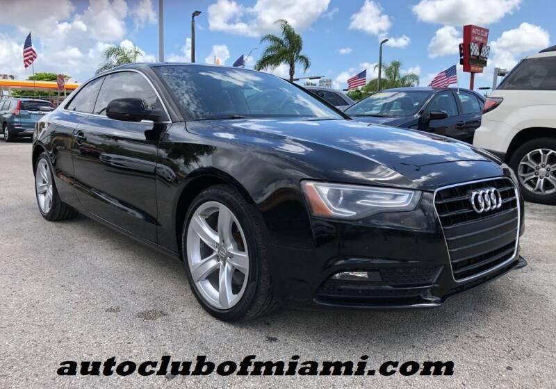 2013 Audi A5 for sale at AUTO CLUB OF MIAMI, INC in Miami FL