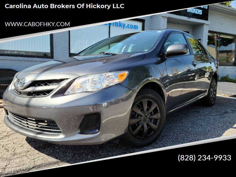2011 Toyota Corolla for sale at Carolina Auto Brokers of Hickory LLC in Newton NC