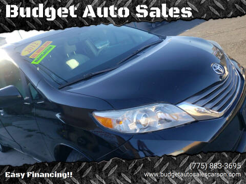 2012 Toyota Sienna for sale at Budget Auto Sales in Carson City NV