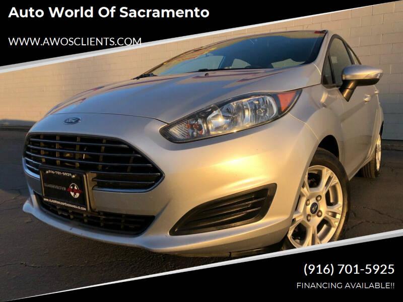 2015 Ford Fiesta for sale at Auto World of Sacramento Stockton Blvd in Sacramento CA