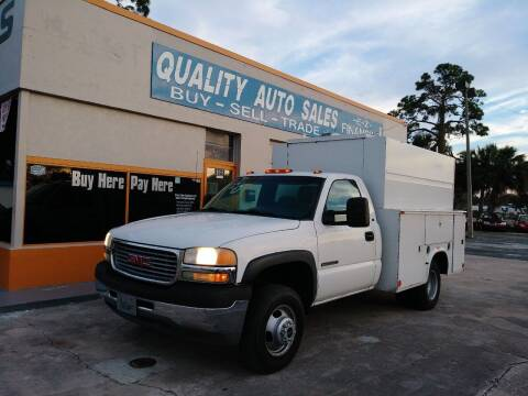 2001 GMC Sierra 3500 for sale at QUALITY AUTO SALES OF FLORIDA in New Port Richey FL
