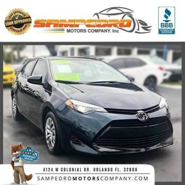 2018 Toyota Corolla for sale at SAMPEDRO MOTORS COMPANY INC in Orlando FL