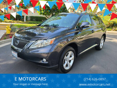 2010 Lexus RX 350 for sale at E MOTORCARS in Fullerton CA
