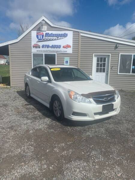 2012 Subaru Legacy for sale at ROUTE 11 MOTOR SPORTS in Central Square NY