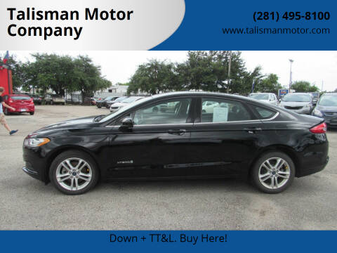 2018 Ford Fusion Hybrid for sale at Talisman Motor Company in Houston TX