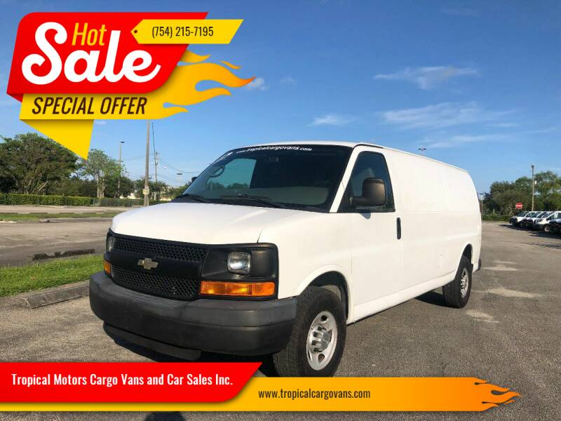 2010 Chevrolet Express Cargo for sale at Tropical Motors Cargo Vans and Car Sales Inc. in Pompano Beach FL