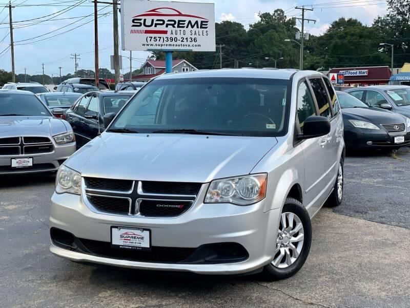 2012 Dodge Grand Caravan for sale at Supreme Auto Sales in Chesapeake VA