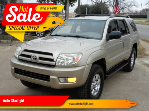 2003 Toyota 4Runner for sale at Auto Starlight in Dallas TX