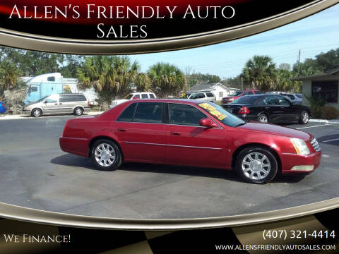 2009 Cadillac DTS for sale at Allen's Friendly Auto Sales in Sanford FL