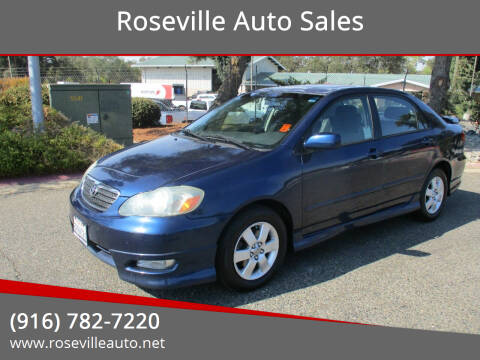 2005 Toyota Corolla for sale at Roseville Auto Sales in Roseville CA