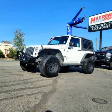 2013 Jeep Wrangler for sale at Hayden Cars in Coeur D Alene ID