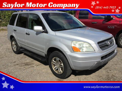 2004 Honda Pilot for sale at Saylor Motor Company in Somerset PA